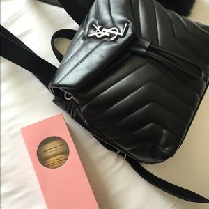 In love with my YSL loulou backpack